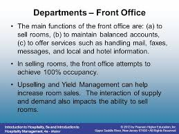 Front Desk Upselling Rooms Division Operations Ppt Video Online Download