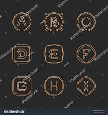 vector letters a b c d stock vector 674436814 shutterstock