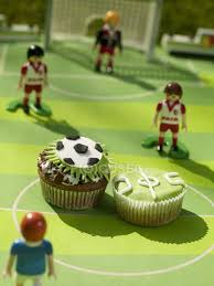 football decorations cupcakes with football decorations stock photo 152080984