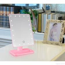 cheap makeup vanity mirror with lights 20 led touch screen makeup mirror professional vanity mirror