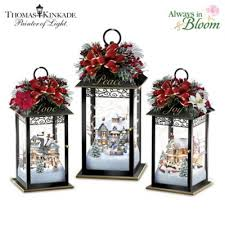 thomas kinkade sparkle of the season lantern table centerpiece