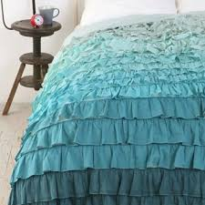 Ruffle Bed Set Interesting Ombre Ruffle Bedding 56 For Your Duvet Cover Sets With