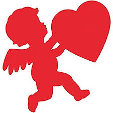 valentines decorations blushing s day glossy cupid cutout party