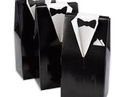 black tie party favors black favor box etsy