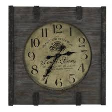 french wall clock made of wood surripui net
