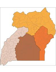 Map Of Uganda Africa by Uganda Shapefiles Map East Africa