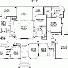 five bedroom home plans one story five bedroom home plans home plans homepw72132 single