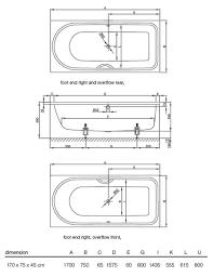 bette ocean rectangular super steel bath 1700 x 750mm lh overflow bette ocean rectangular super steel bath 1700 x 750mm lh overflow