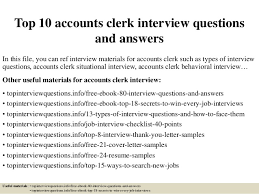 resume exles entry level accounting clerk interview answers top 10 accounts clerk interview questions and answers 1 638 jpg cb 1427514613