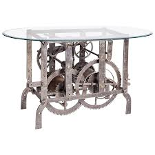 Clock Coffee Table 18th Century Italian Church Tower Turret Clock Coffee Table For