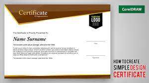Appreciation Certificate Templates Tutorial How To Create Design A Certificate With Coreldraw Free