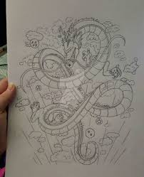 dragon ball z shenron tattoo update 2 by emoed14 on deviantart