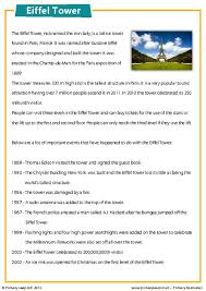 primaryleap co uk the eiffel tower comprehension worksheet
