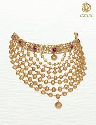 luxury gold necklace images Azva gold necklace modern bridal jewellery goldjewellery jpg