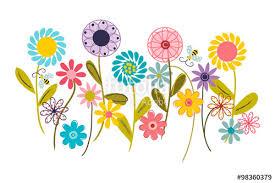 wildflower garden wall art nursery or children u0027s room art