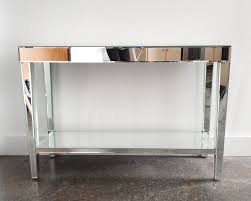 Mirror Console Table Furniture Inspiring Mirrored Modern Console Table Design With