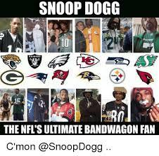 Nfl Bandwagon Memes - snoop dogg the nfl su timate bandwagon fan c mon football meme on
