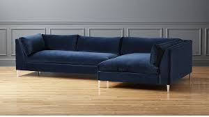 Navy Blue Sectional Sofa Decker 2 Navy Blue Velvet Sectional Sofa In Custom Order