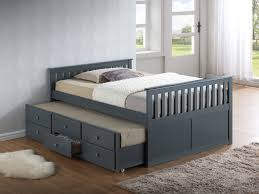 Captain Bed With Trundle Summertime Daybed White Hayneedle