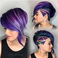 rainbow color hair ideas short multi colored hair best short hair styles