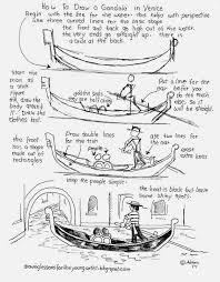 how to draw worksheets for the young artist how to draw a gondola