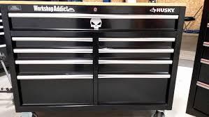 home depot 9 drawer chest husky black friday husky 46 u2033 u0026 52 u2033 workbench at home depot workshop addict wood