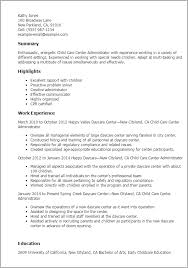 daycare resume exles daycare resume sles child care center administrator jobsxs