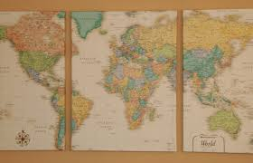 World Wall Map by Diy Wall Map Esther Good