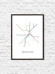 Metro Map Boston by Boston Boston Subway Subway Art Boston Metro Map Boston