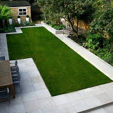 Family Garden - modern family garden in battersea with patio lighting planting