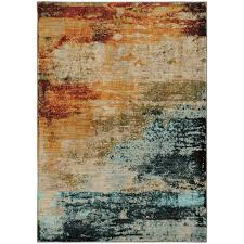 Area Rugs Barrie Haugan Abstract Blue Area Rug Living Rooms Room And Dining