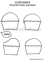 crafts sweets cupcake doodle coloring page