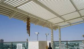Awning Roof Louvered Pergola Covers Shade And Shutter Systems Inc New