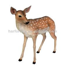 size fallow deer fiberglass resin garden animals