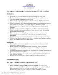 Best Project Manager Resume Construction Project Engineer Sample Resume 20 Amazing It Project
