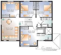 plan maison moderne 5 chambres plan de maison 5 chambres d du unifamiliale w3875 v1
