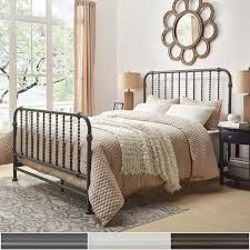 gulliver vintage antique spiral king iron metal bed by inspire q