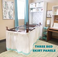 How To Make A Bed Like A Pro University Line Bed Skirt Panel Solid Navy Mattress Springs