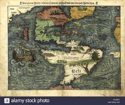 The Americas Map by 16th Century Map Of The Americas Published In 1550 This German