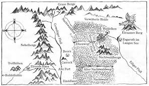 The Hobbit Map Map Of Middle Earth From Lord Of The Rings Aesthetic Pinterest