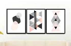 triptych scandinavian prints geometric art printable art
