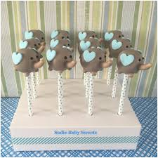 elephant cake pops for a baby boy shower baby shower treats