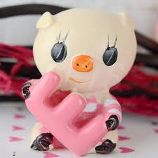 wholesale 6sets cute love small pig car interior ornaments accessories kids birthday party home decorations articles jpg