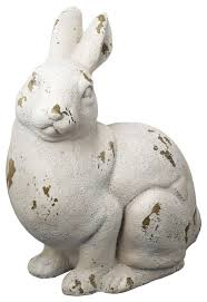 magnesia rabbit statue farmhouse garden statues and yard