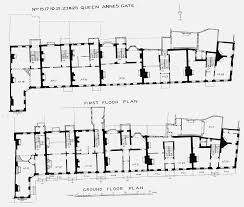 Ground And First Floor Plans by Plate 105 Nos 15 To 25 Odd Queen Anne U0027s Gate Ground And