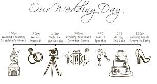 our wedding planner your day wedding planning order of the day wedding table