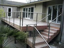 metal deck posts for cable railing metal deck railing posts best