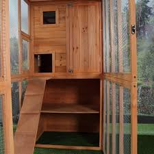 cat run outdoor wooden shelter enclosure shopmonkeez