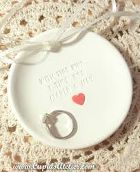 custom wedding presents custom heart wedding ring dish ring bowl wedding gift