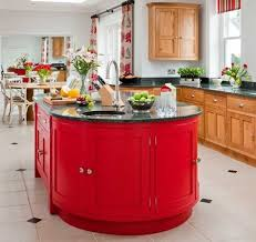 modern equipment in red kitchen ideas home design and decor ideas